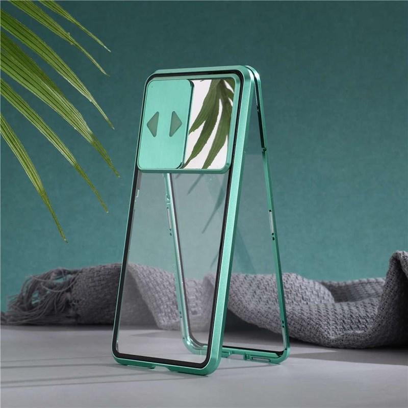 Lens Koruma Anti Peeping Çift Taraflı Cam Cep Telefonu Kılıfı Manyetik Emilim iPhone 11 11pro Max x XS XR XSMAX 7 8 artı