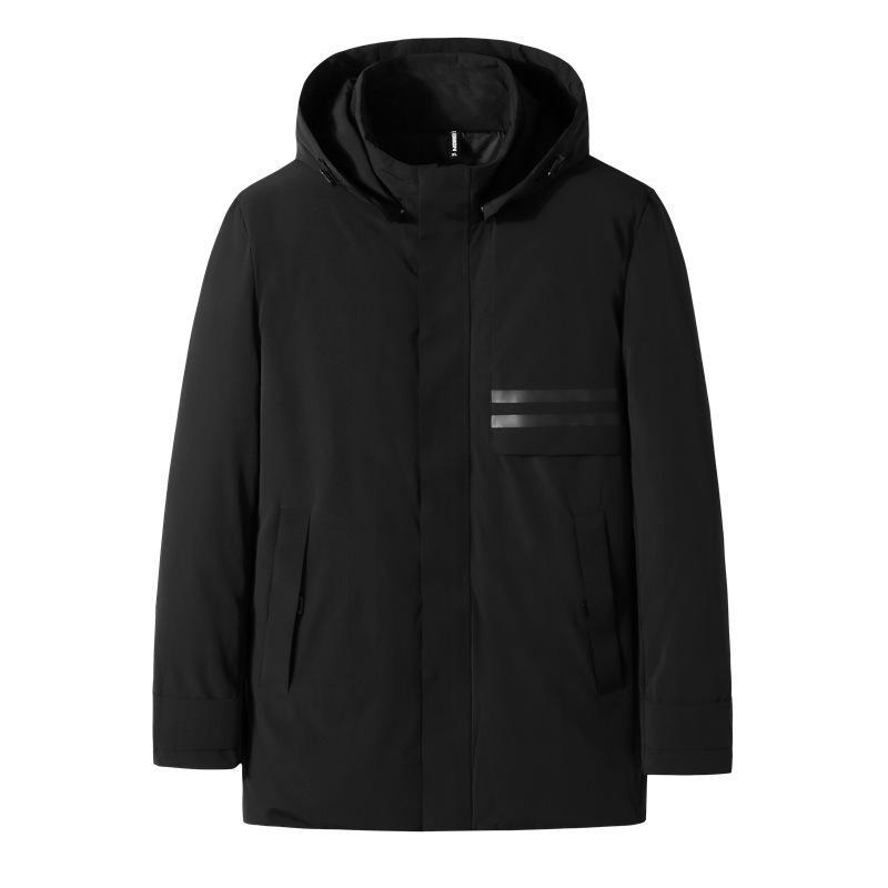 2021 Invierno Nuevo engorde de los hombres más tamaño grueso cuello cálido collar con capucha con capucha