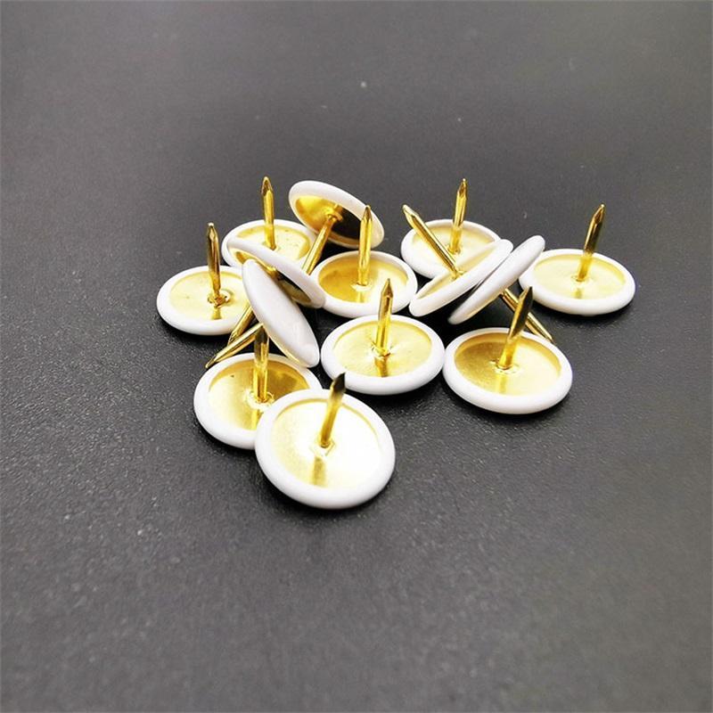 300pcs / lot blanc ThumbTack plastique emballage de plastique Fournitures de remplissage manuel DIY Office Utilisez la simplicité de clou de liège 0 02qj y2