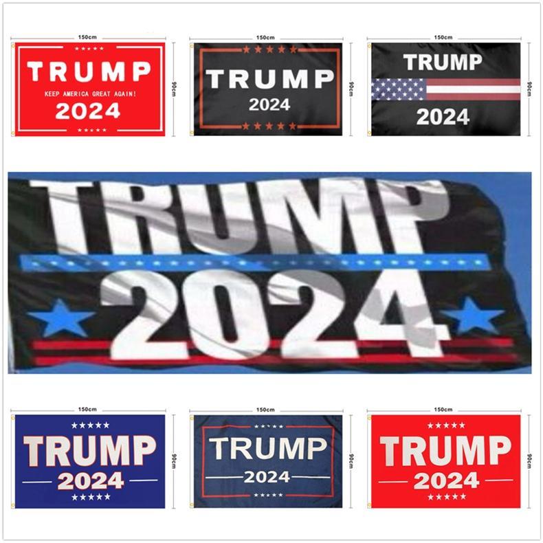 12 Estilo 2024 Trump Biden Bandeira 90 * 150 cm US presidencial eleitoral bandeira Poliéster Ponge Material Trump 2024 bandeiras banners mar frete lla391