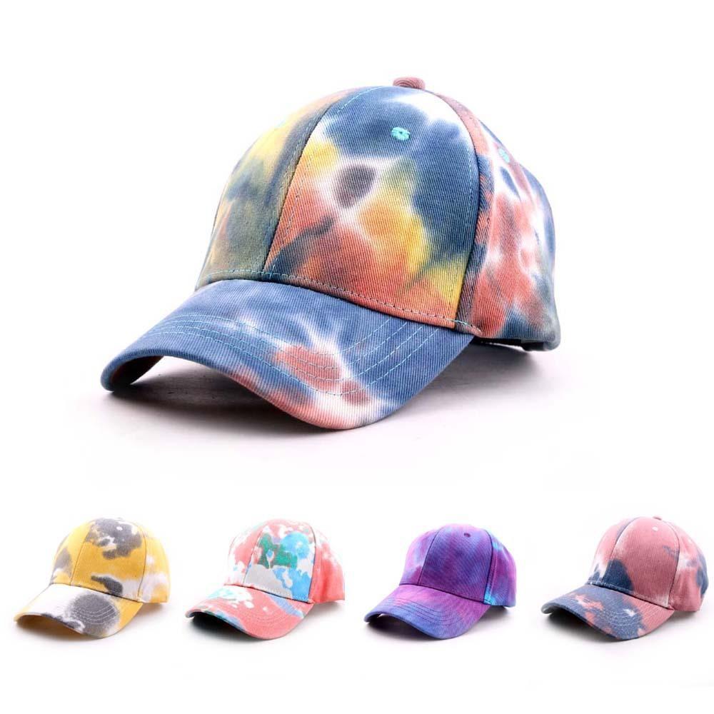 Заводская оптовая новая новая корейская галстука окрашена бейсбольная кепка для пар летом мода цветной узор солнца шляпа