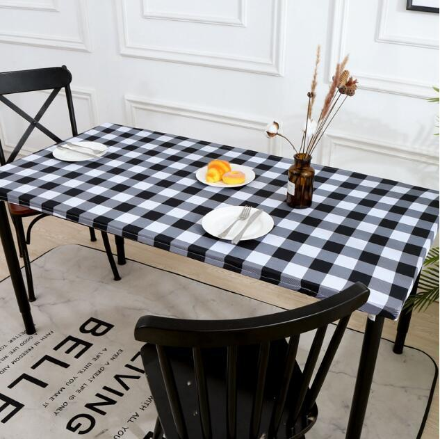 Rectangle Table Cloth EASY Clean Tables Cover for Dining room stretch Printed tablecloth