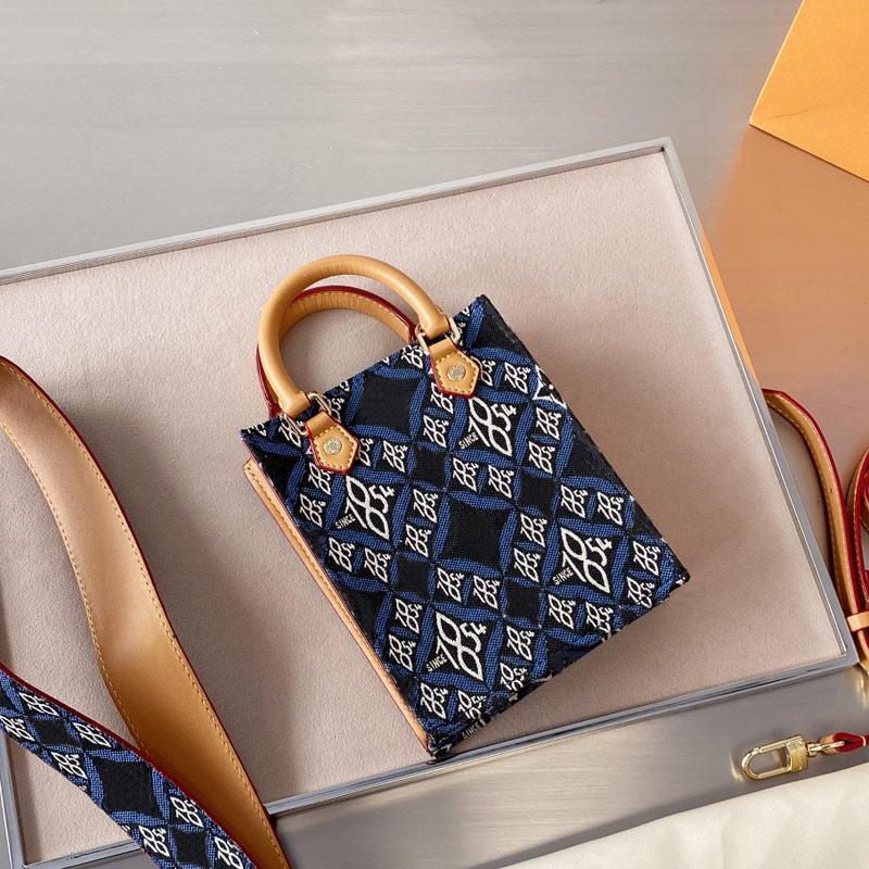 حقيبة تسوق مصغرة حقائب قماش محفظة حرف الكلاسيكية خليط الألوان الأجهزة جودة عالية شحن مجاني حزام الكتف واسعة