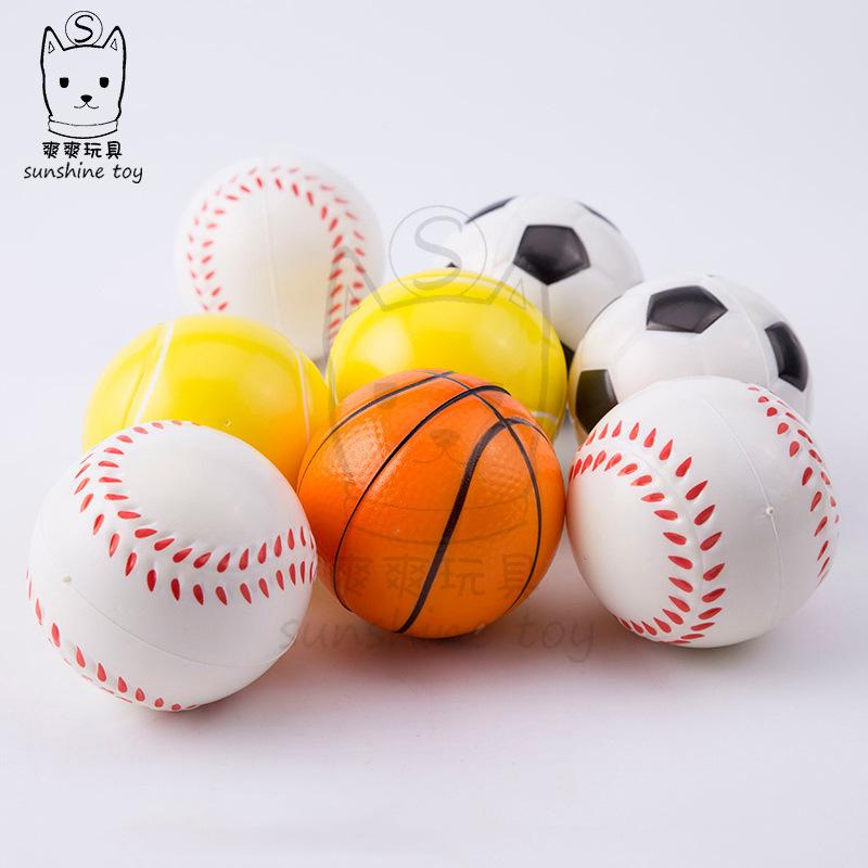 Espreguiçadeira de Esforço de Futebol Basquete Basquetebol Basebol Brinquedos Esquezy Espuma Esponja PU Divertimento Divertimento Bolas Esfolidentes Stress Relieve Ball Bola H38Q5ux