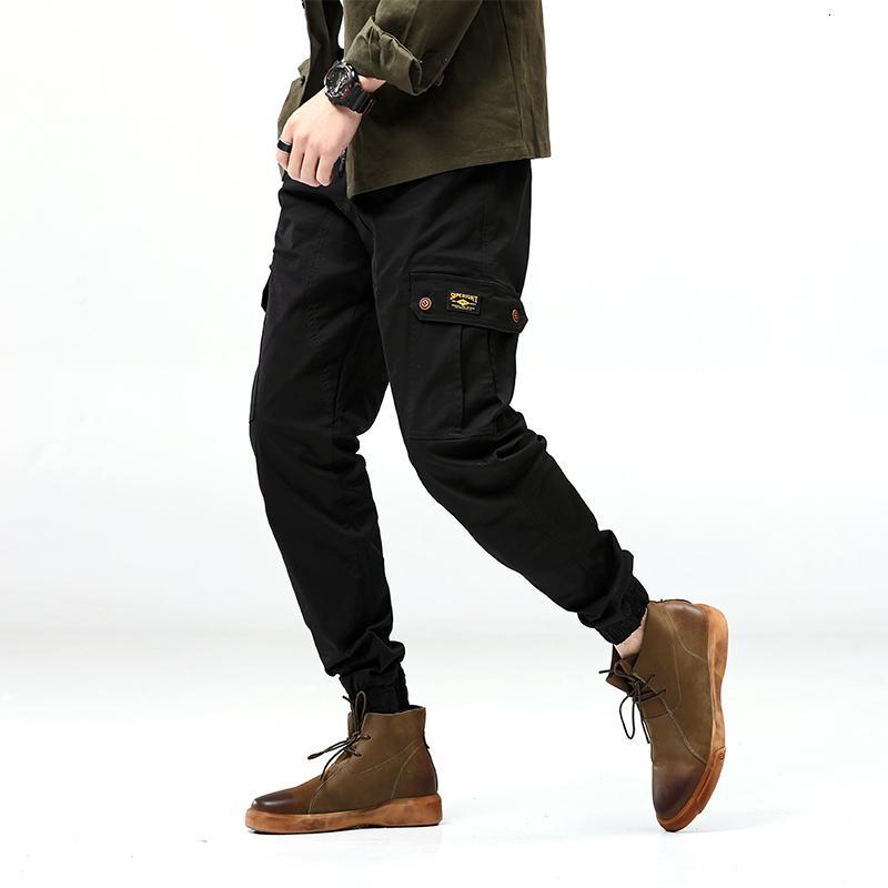 2021 новый плюс размер 7xL мужские повседневные брюки мужские мульти-карманы тактический эластичный луч ноги KO2T