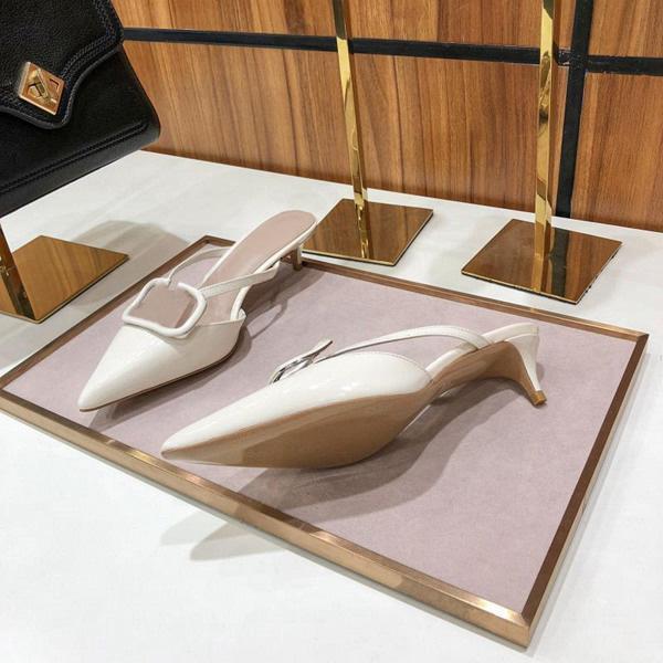 Yüksek Topuklu Sandalet Gladyatör Deri Kadın Sandalet Ince Topuk Yüksek Topuklu Ayakkabı Moda Seksi Mektup Deri Kadın Ayakkabı Büyük Boy 35-42