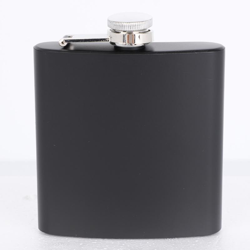 Matt Siyah 6oz Likör Hip Flask Vidalı Kap, 100% 304 Paslanmaz Çelik, Lazer Kaynak, Kişiselleştirilmiş Logo Ücretsiz 105 V2