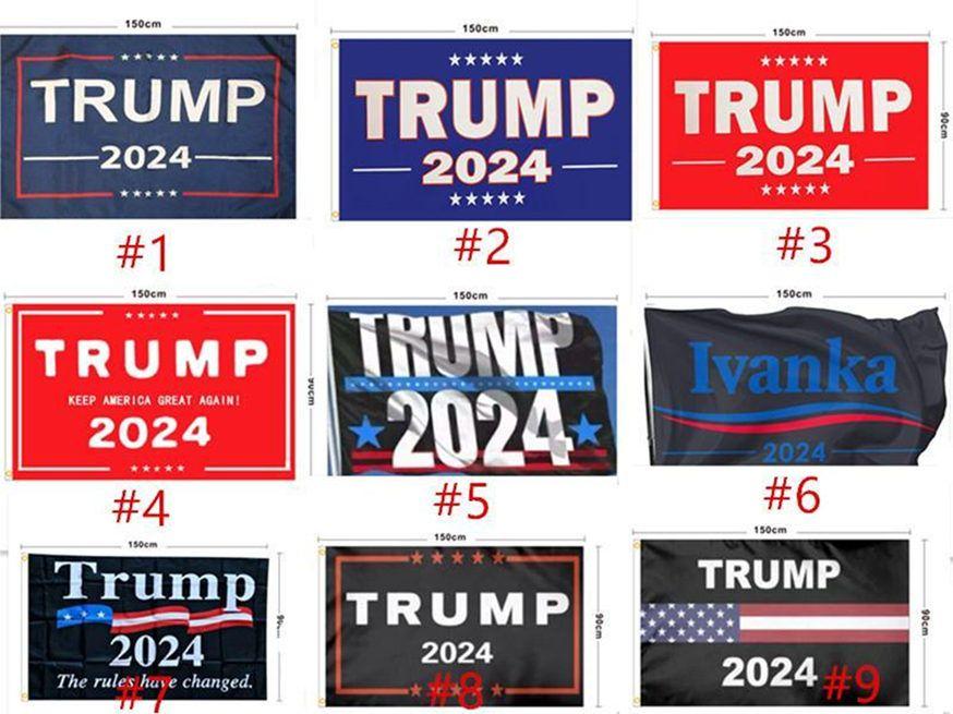 DHL Schiff 90 * 150cm Trump Hepping Flag FLAG Trump 2024 Amerika Hanging Große Banner 3x5ft Digitaldruck Donald Trump Fahnen 20 Farben Dekor