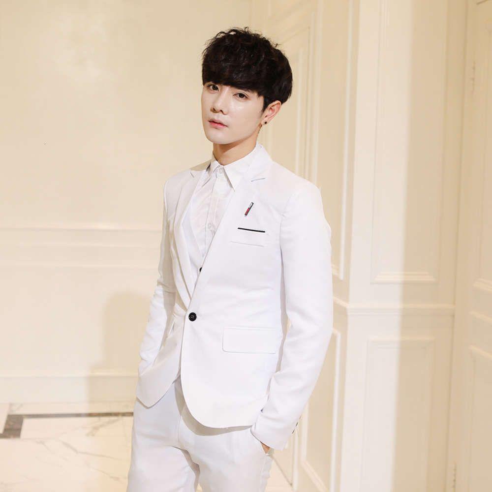 Новая кнопка маленький лучший мужской корейский костюм пальто