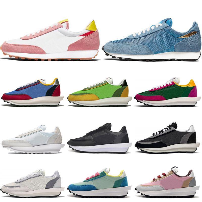 2020 Ucuz LDV Waffle Rahat Ayakkabılar Daybreak Eğitmenler Erkekler Kadınlar Için Beyaz Naylon Çam Yeşil Varsity Mavi Mercan Stardust Spor Ayakkabı Sneakers
