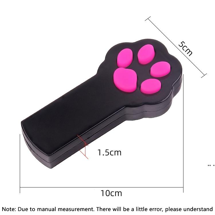 New Footprint Shape LED Light Laser Toys Laser Tease Funny Cat Rods Pet Cat Toys Creative DHD5484