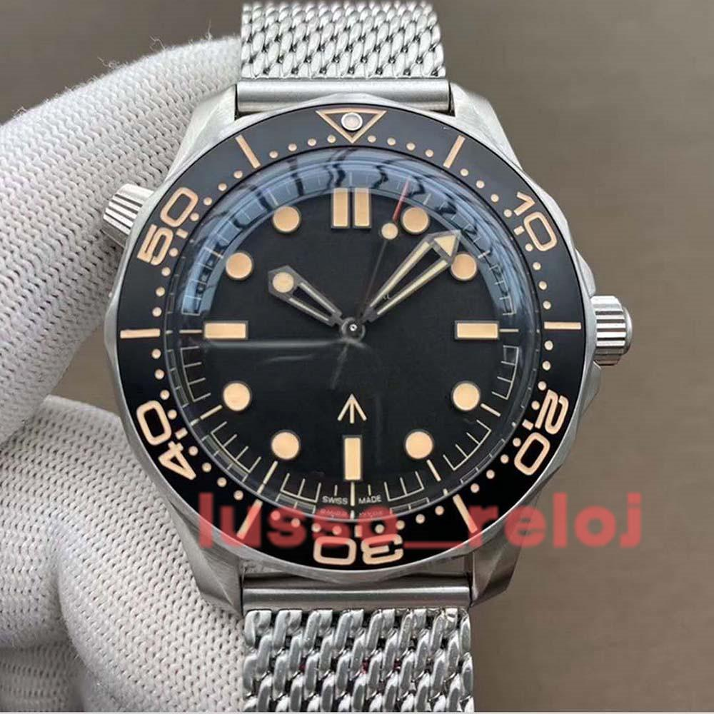 Ceramic Bezel NTTD42mm No Time to Die Men Orologio Sapphire Mens Watches Automatic Movement Mechanical Montre de luxe Watch James bond 007 Nato 300M Wristwatches