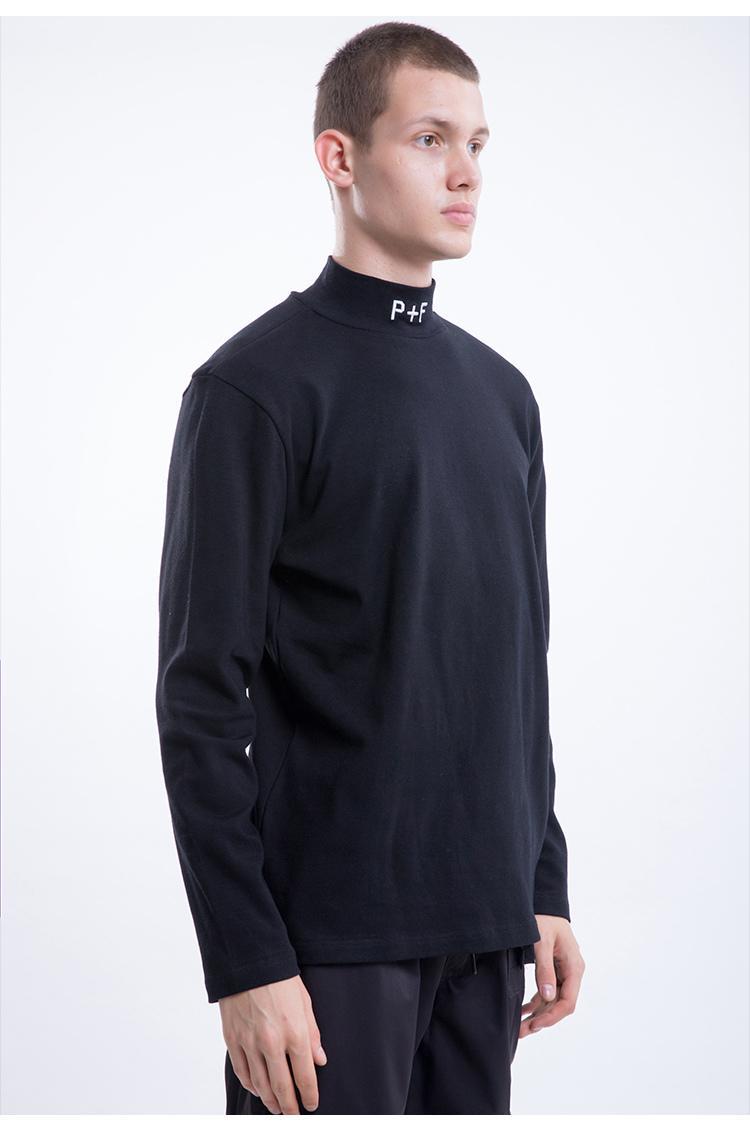 Yeni F / W Hip Hop Japonya Streetwear Yerler + Yüzler P + F Nakış Erkekler Kadınlar Boy Uzun Kollu T-Shirt Moda Pamuk Tees S-XL 1LVZ 0Y0H
