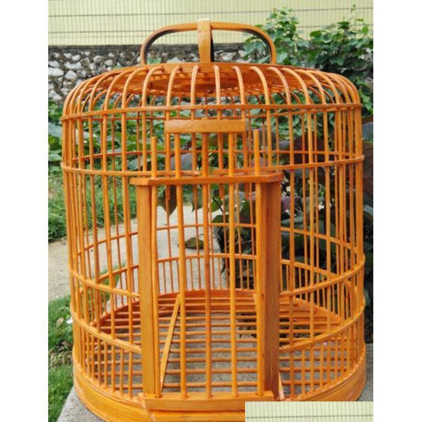 Бесплатная доставка Bamboo Birdcage STARLING EMASH CAGE CAGE Health Birds Cage 32 см для отправки Фу JLLCYI GARDE_LIGHT