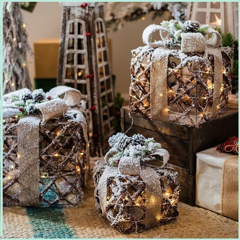 Christmas Decorations Large Ground Ornaments, Lighting Pendants, Wall-mounted Bells, Reindeer Atmosphere, Decorative Furnishings Navidad