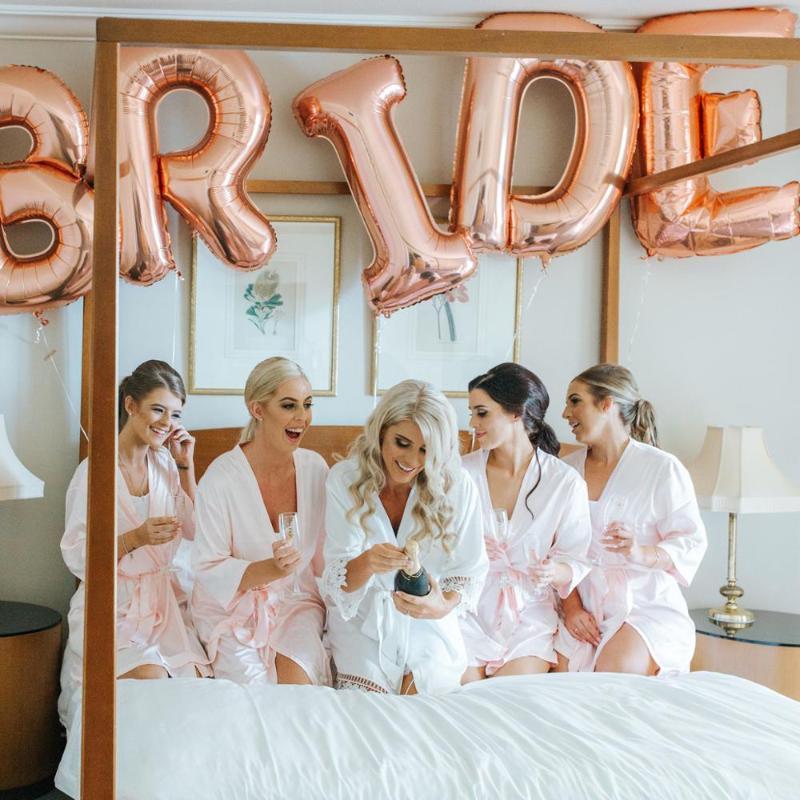 16-дюймовые розовые золотые невесты Ballons, чтобы быть фольгой письма воздушные шары свадебные бакелоретные украшения партии курица партии аксессуары