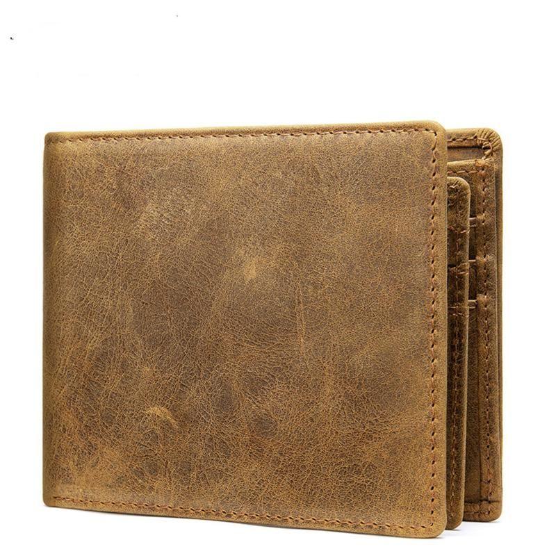 Cüzdan erkek cüzdan hakiki deri retro inek derisi dikey sikke cüzdanlar lüks iş çoklu kart 2021 erkek moda
