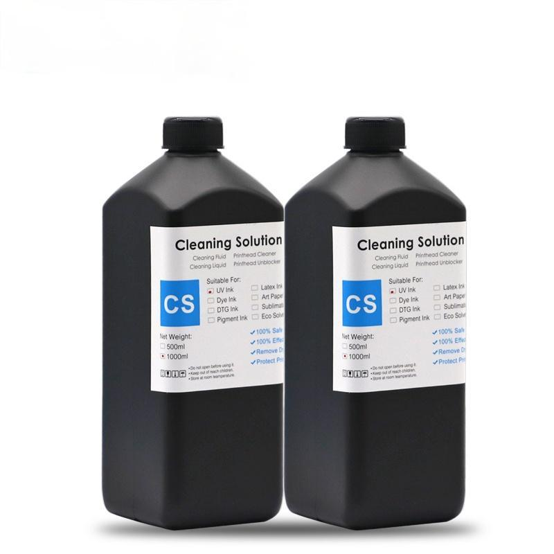 Ink Refill Kits 1000ML No Odor UV Coating Fluid For Flatbed Printer Can Print On Smooth Material Glass Acrylic Wood Pretreatment Solution