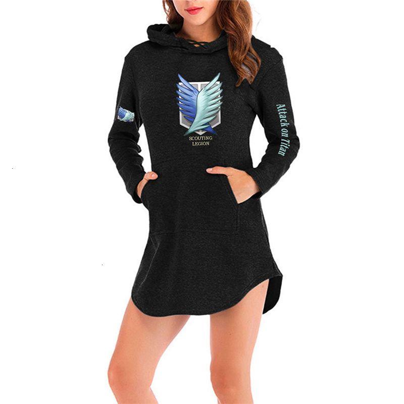 2021 novas mulheres hoodie anime ataque em titan casaco com capuz moda meninas eren jaeger mikasa hoodies longas moletom roupas ngwm