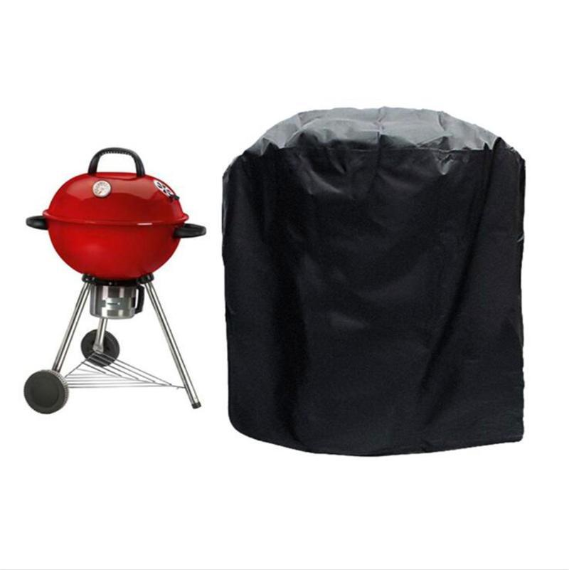 Outdoor BBQ Grill Cover Black Waterproof Heavy Duty Barbeque Grilling Covers Weber Barbacoa Anti Dust Rain Gas Charcoal Electric