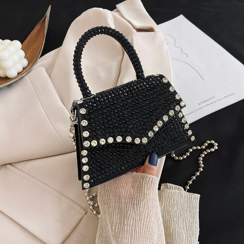 Handtaschen Diamant Taschen Taschen Kette Dame Kleiner Luxus Messenger Crossbody Mode Designer Nieten Frau Casual Schulter für Tasche Cigku