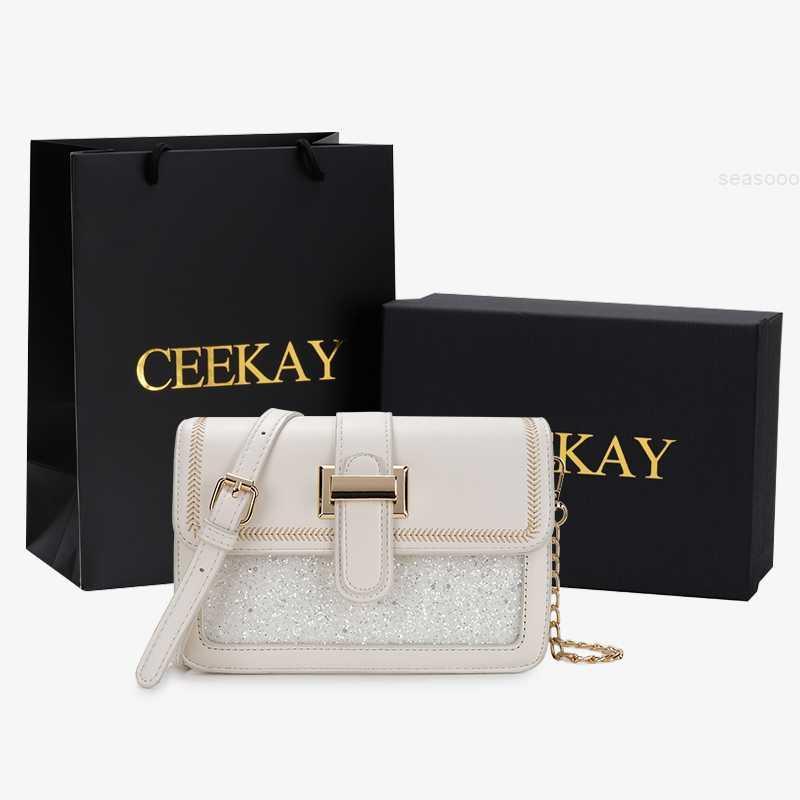Yeni kadın 2021 Ceekay moda çok yönlü yüksek dereceli küçük duygu yangqi net kırmızı zincir messenger çanta