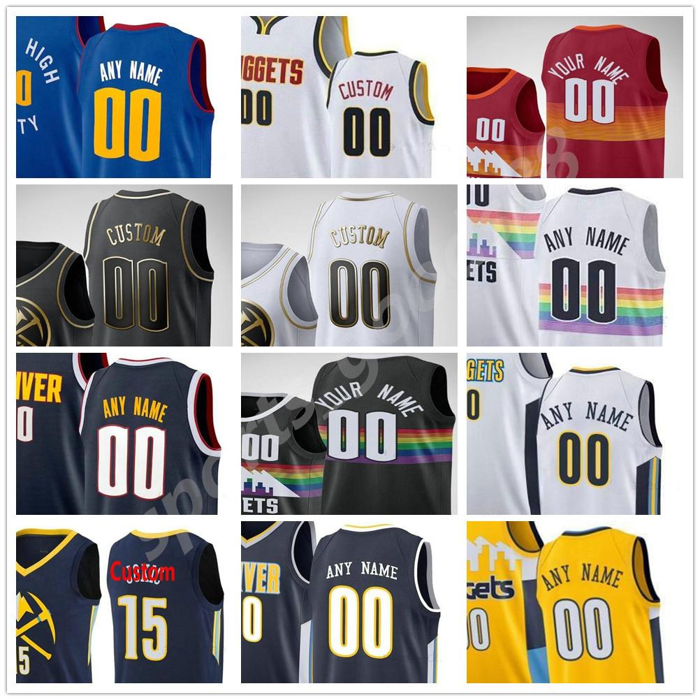 Пользовательские 2021 напечатаны 15 Jokic Jamal 27 Murray Nikola Michael 1 Porter Jr. Facundo 7 Campazzo Gary 14 Харрис Мужчины Женщина Баскетбол Джерси 06