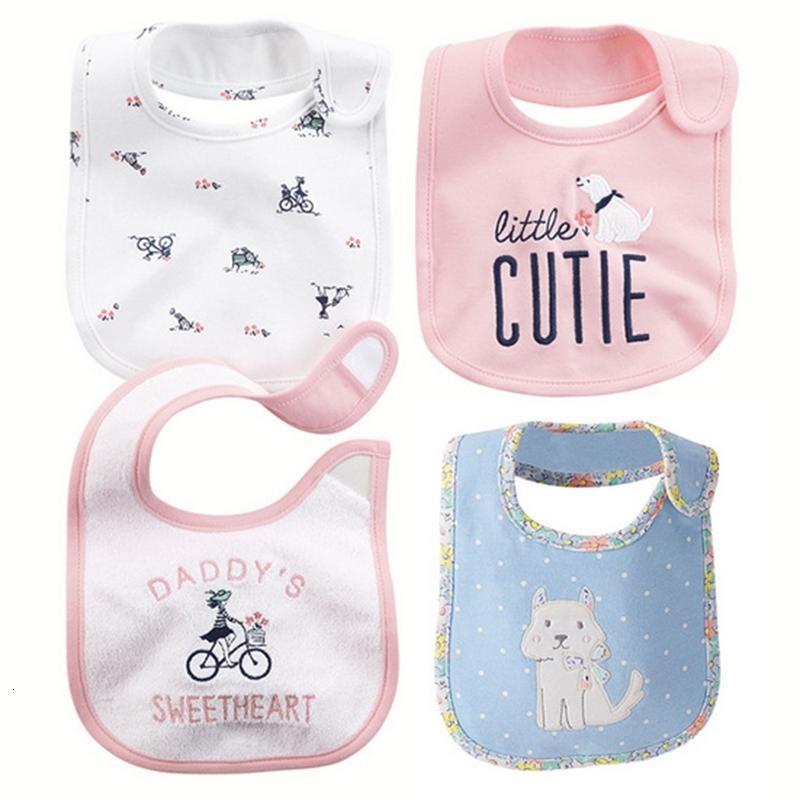 Carters gleiche Baumwolle Neugeborenen Speichel Tuch Lätzchen Cartoon Dreischicht Wasserdichte Kinder Kittel