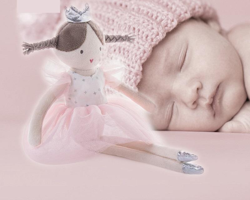 Pembe Bale Kız Peluş Oyuncak Sevimli Prenses Elbise Bebek Kalp Bebek Doğum Günü Hediyesi