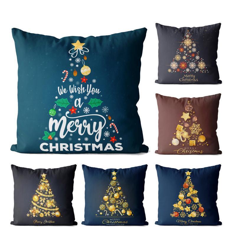 Kissen / dekorative Kissen Weihnachtsbaum Muster Samt Square Cover Kissenbezug, Gebraucht für Sofa Wohnzimmer Büro Party Auto