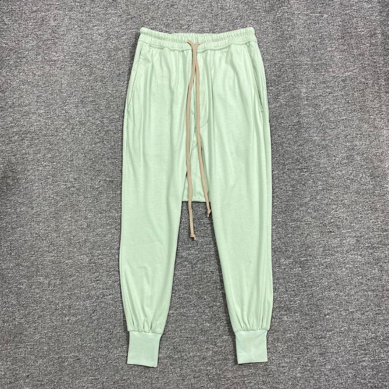 Оуэн Seak Men Повседневная гарема Брюки 100% Хлопок Готическая одежда Спортивные штаны Летняя Высокая улица Легкие Женщины Сплошные Свободные штаны