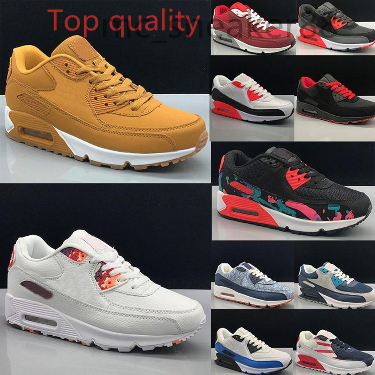 Nike Air Max90 New Classic 90 Herren Casual Schuhe Frauen Designer 90er Jahre Camo Dancefloor Green Triple White Black Infrarot Grau Trainer Sport Outdoor Sneakers