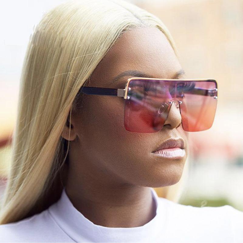Солнцезащитные очки Mimiyou Мода Негабаритные Квадратные Женщины Градиент Солнцезащитные Очки для мужчин Винтажные Очки Дизайнерские оттенки Oculos