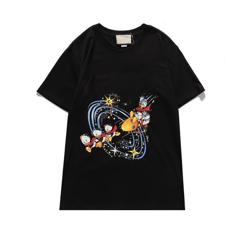 T-shirt da uomo per capelli da uomo T-shirt da uomo T-shirt da donna di alta qualità Estate casual T-shirt in bianco e nero Taglia S-2XL