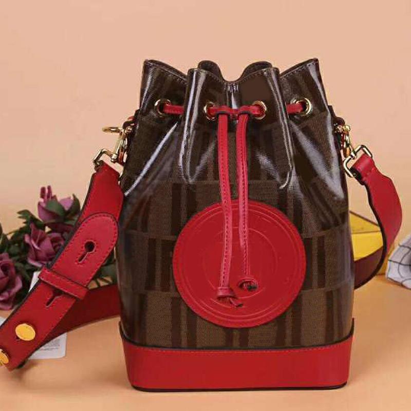 Large Size Waterproof Bucket Bag Fashion Letter Handbag Purse Crossbody Shoulder Bag genuine Leather Detchable Shoulder Strap High Quality