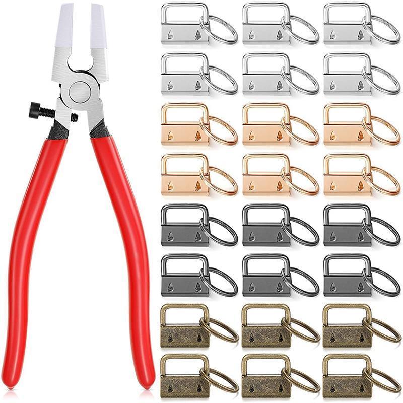 Keychain Hardware para chaveiros de pulseira, cordão chave que faz a chave de fornecimento de hardware FOB INSTALL, 4 cor