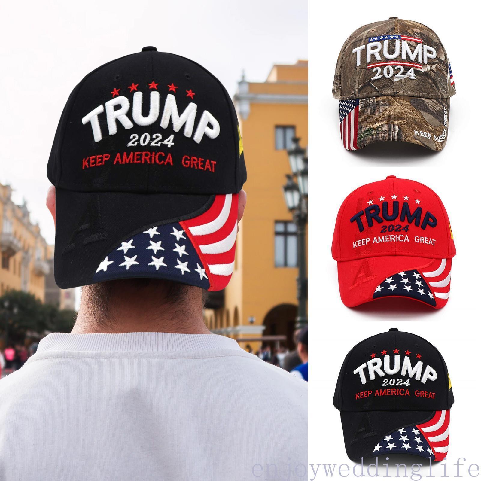 U.S 2024 Trump Elezione presidenziale elezione presidenziale Cappuccio elettorale Trump Cappello da baseball Berretto da baseball regolabile Velocità di ritorno di cotone Sports Cap Gyq