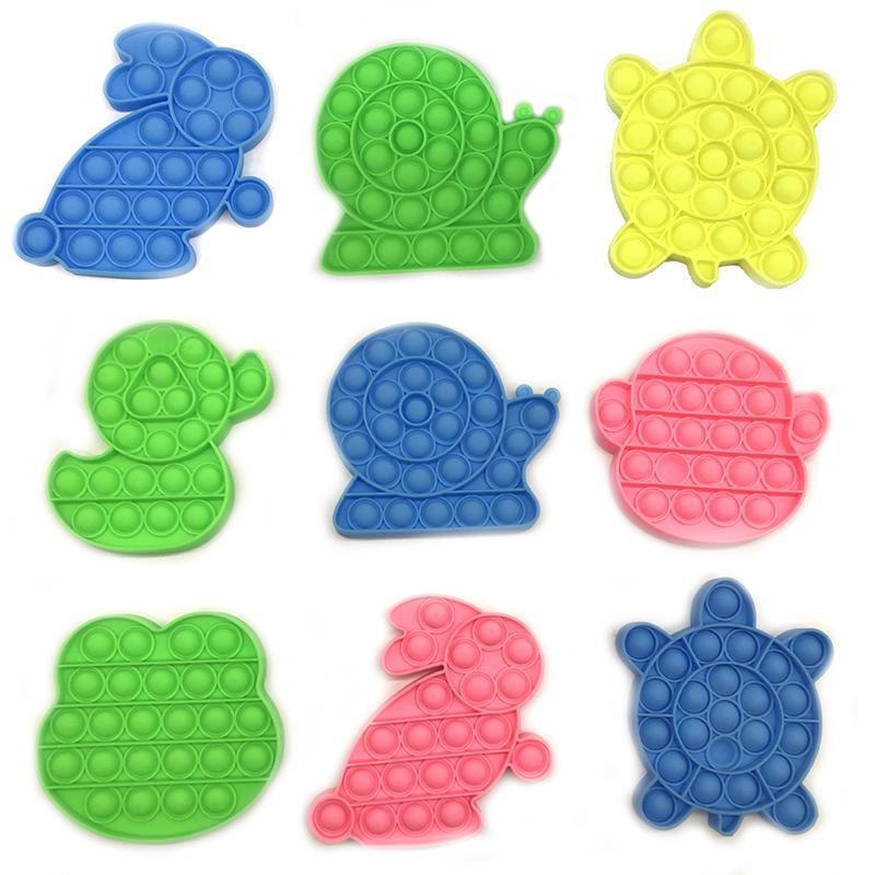 24 стилей Go Bang Foxmind Push Pop Pop Bubble Fidget Sensory Toy Autism Особые нуждающиеся нагрузки Вершинные игрушки Смешные Антистресс Fidget Toys