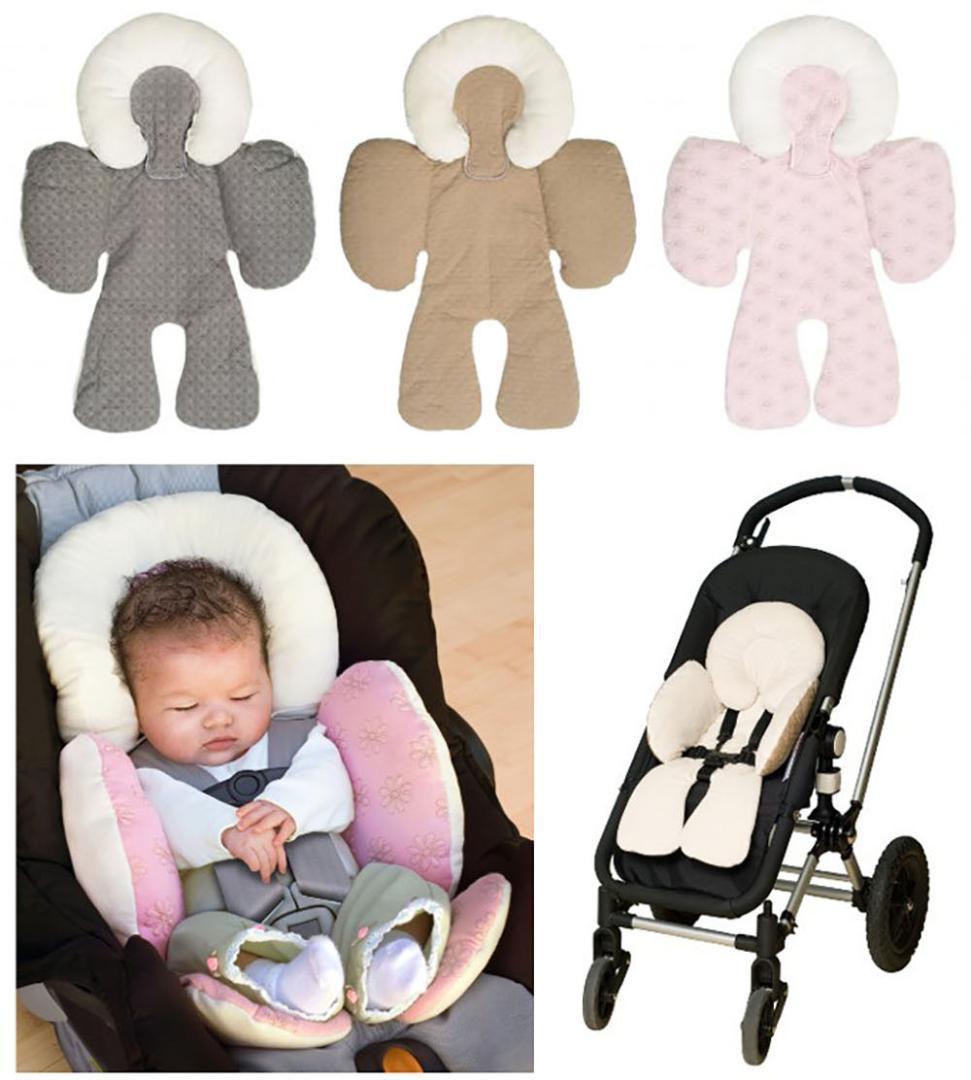 Bebek Arabası Yastık Araba Koltuk Pad Mat Bebek Araba Yastık Kafa Vücut Desteği Taşıma Çift Taraflı Kullanım Kafa Vücut Desteği Koltuk Yastık 192 T2