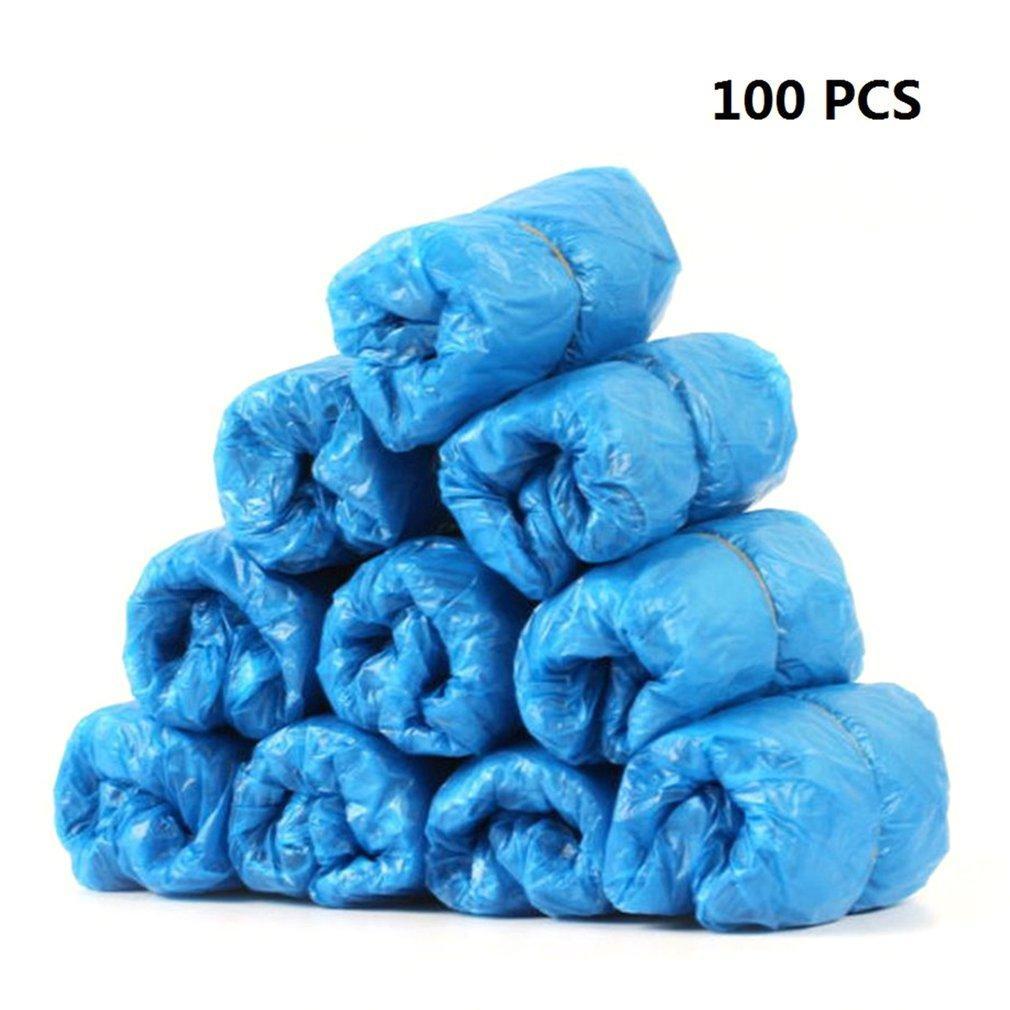 100pcs Piedio di plastica monouso Copertura addensata Design addensato Buona durata Durata Durata Piovosa Scarpe da esterno