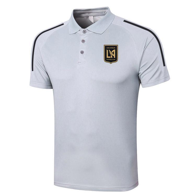 2021 Los Ángeles FC Polo Camisa Fútbol Transporte Polos Sports Jerseys Adult Fútbol Manga corta Polos Camiseta de verano Ropa Polos de los hombres