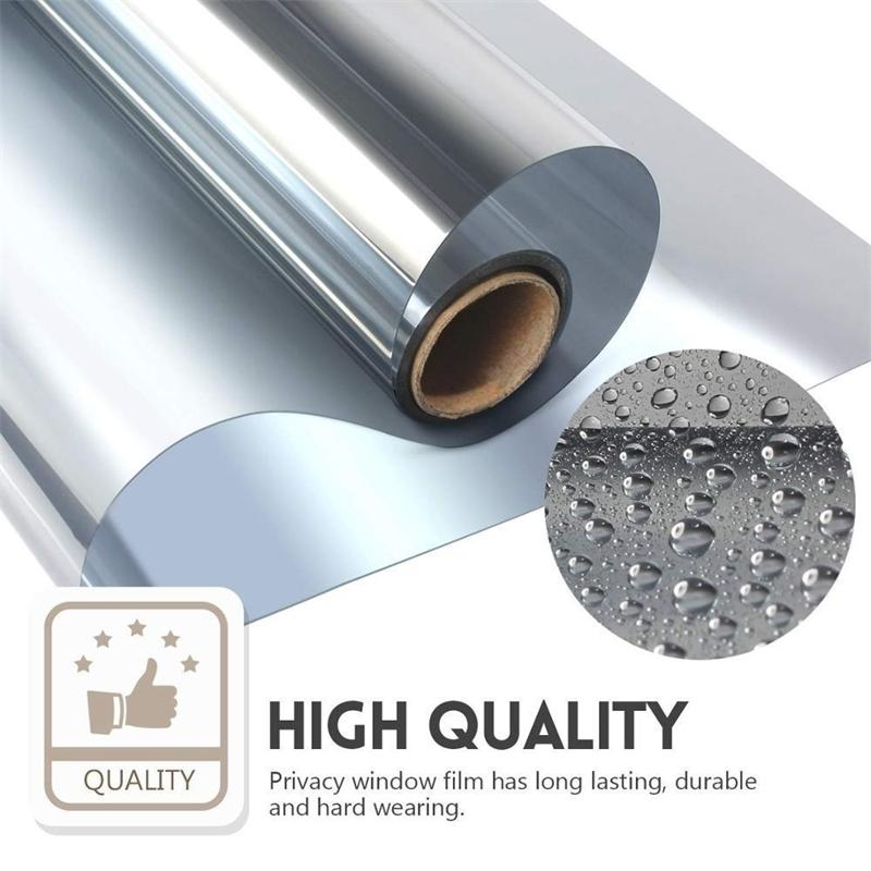 Multi-Width , Length 2/3/5 m One Way Mirror Window Film.Self-adhesive Reflective Privacy Glass Tint,Heat Control Solar film Y200421