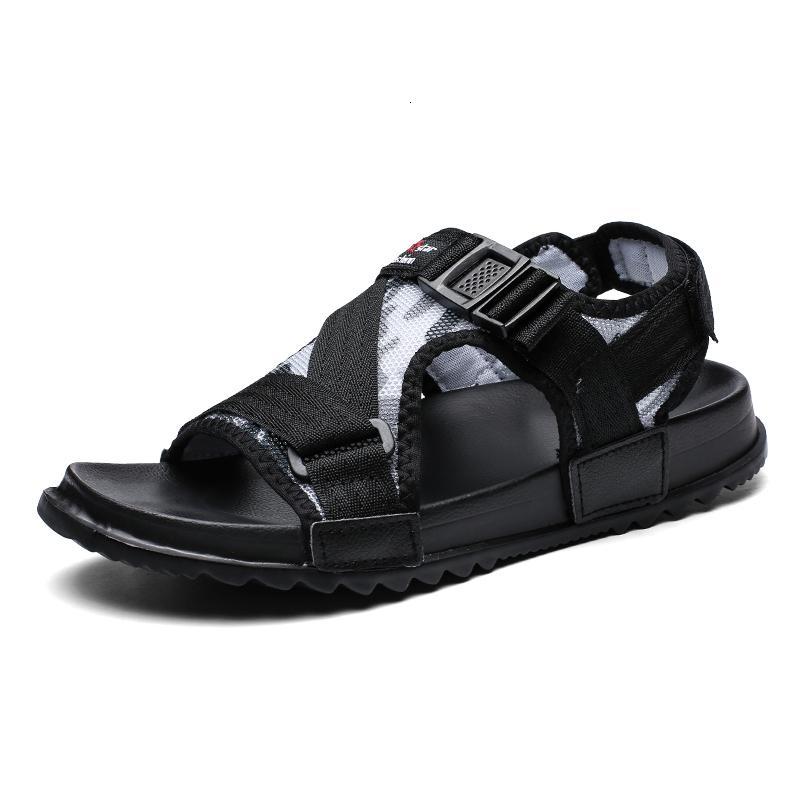 2021 Yeni Casual Erkekler Sandalet Yaz Sandal Erkek Sandles Açık Nefes Konfor Kayma Artı Boyutu Açık Ayakkabı Sandalias EVA SA99