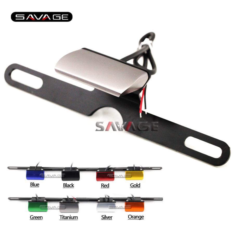 Universal-Kennzeichen LED-Licht für Suzuki GSF 400/600/650/1200/1250 Bandit SFV650 TL1000 Motorradzubehör CNC Aluminium