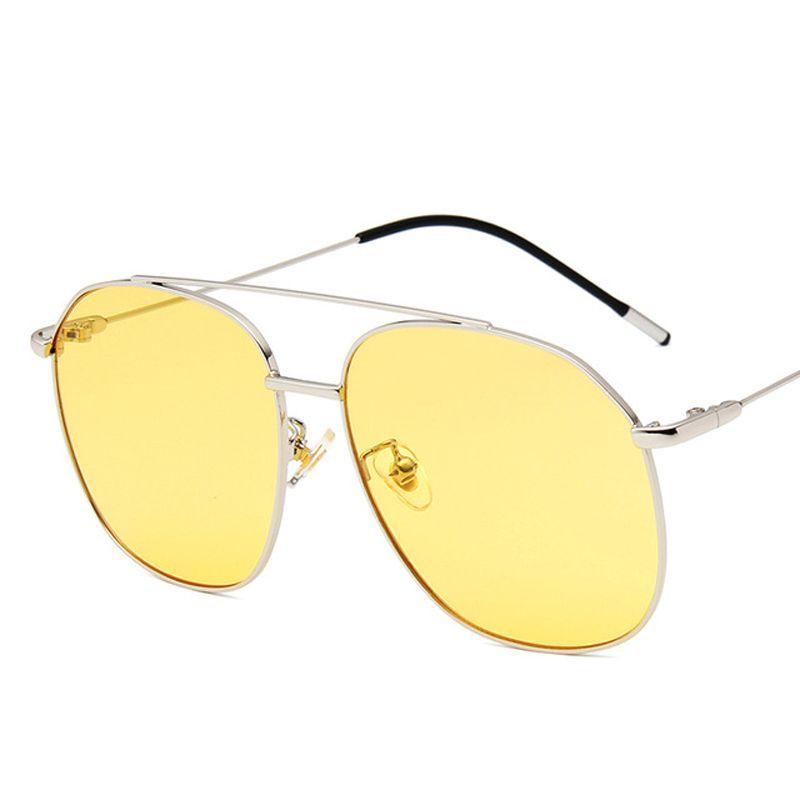 Lcladies grand rond couleur couleur lentille lunettes de soleil hommes femmes femmes rétro jaune rouge vintage minuscule lunettes de soleil
