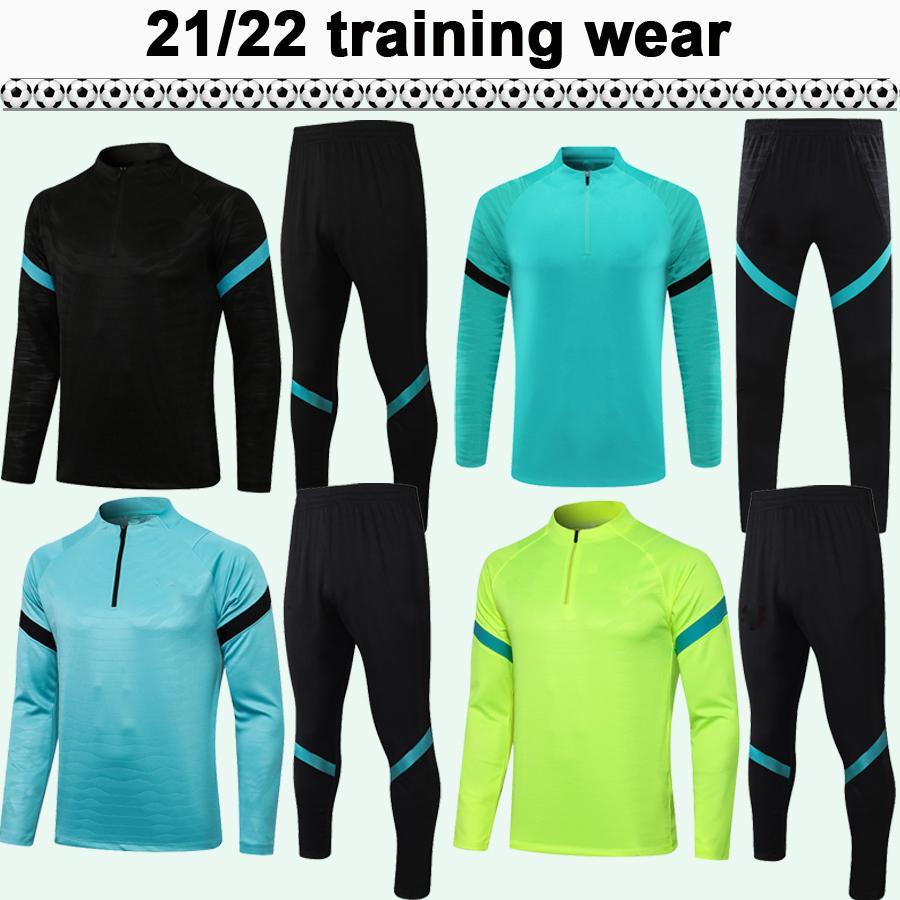 21 22 Brozovic Alexis Tracksuits Mens Futebol Jerseys Kit Lukaku Candreva Skriniar Ambrosio Black Football Shirts Terno de treinamento