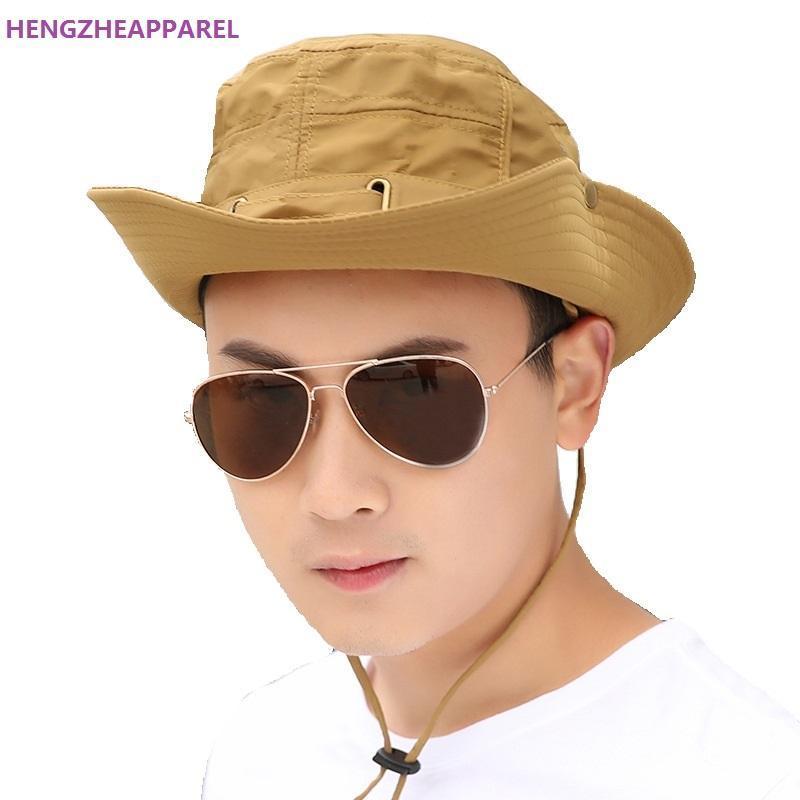 Stingy Rand Hüte Männer Frauen Sonnenhut Mode Sommer Strand Fischer Anti-UV-Schutz Eimer Holiday Jungen Mädchen Mütze