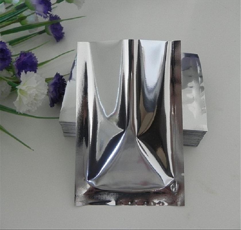 Échauffeurs de nourriture Conteneurs de stockage Mylar Feuille Vacuum Sac Silver Aluminium Pack Différentes tailles