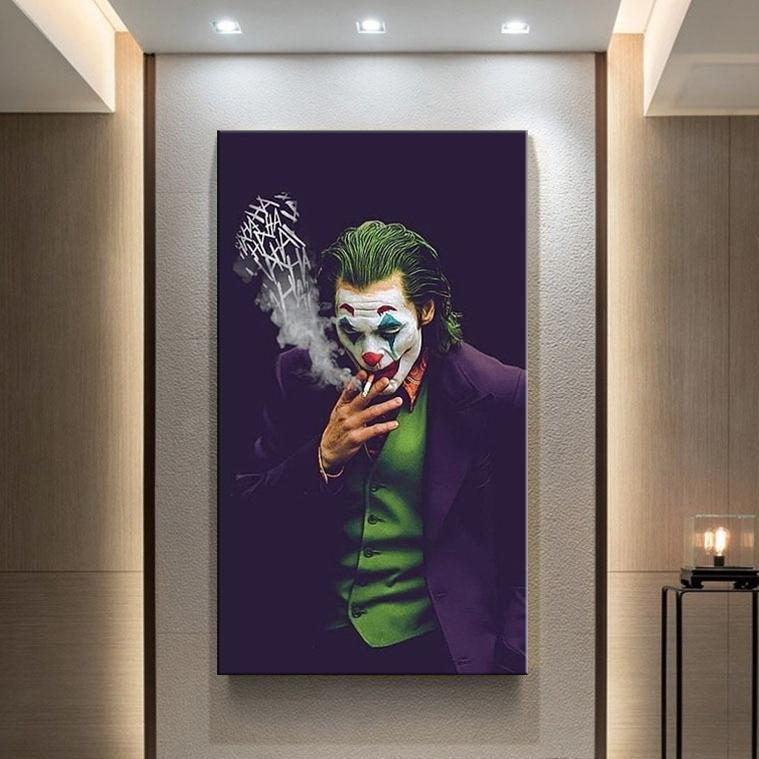 Classic Movie Poster The Joker Poster DC Comics Wall Art Canvas Stampe Joaquin Phoenix Pittura Immagini per la parete per soggiorno Home Decor
