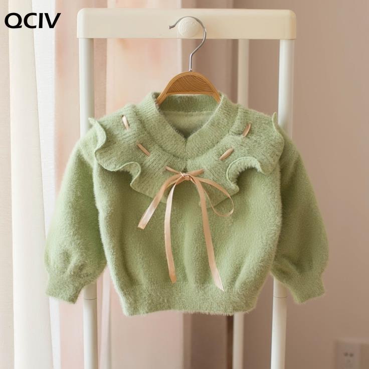 Pullover Herbst Winter Pullover Kleidung für Mädchen Blume Nette Strickverschleiß Langarm Prinzessin Kind Kinder Oberbekleidung Mädchen Strickwaren